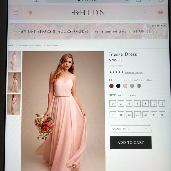 e1e05cdc49 BHLDN Dresses   Skirts - Inesse Bridesmaid Dress from BHLDN